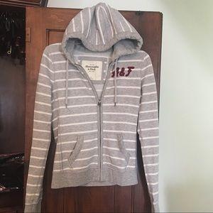 Striped A&F Hoodie